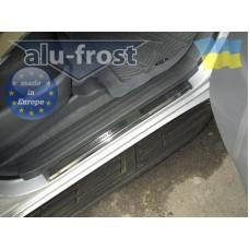 Накладки на пороги Alufrost для Toyota Land Cruiser Prado 150