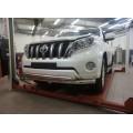 Защита бампера Toyota Land Cruiser Prado 150 2014+