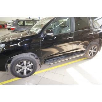 Защита штатного порога Toyota Prado 150