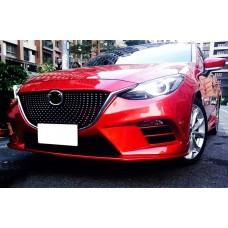 Тюнинг решетка радиатора Mazda 3 2014-2017