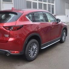 Пороги Mazda CX 5 2017+ оригинальный дизайн