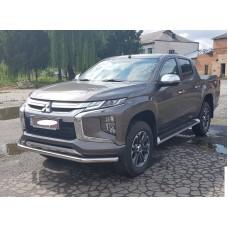 Защита переднего бампера Mitsubishi L200 2019+