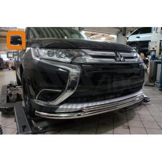 Защита бампера Mitsubishi Outlander 2017+
