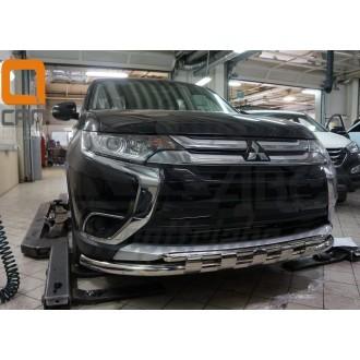 Защита переднего бампера Mitsubishi Outlander 2016-2017+