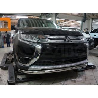 Защита переднего бампера Митсубиси Аутлендер 2016+
