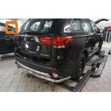 Защита заднего бампера Mitsubishi Outlander 2017+