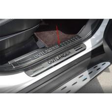 Накладки на пороги верхние Mitsubishi Outlander 2016+