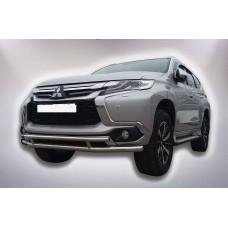 Защита бампера Mitsubishi Pajero Sport 2017+