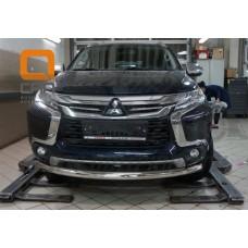 Защита переднего бампера Mitsubishi Pajero Sport 2017+