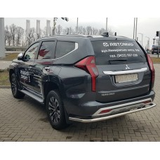 Защита заднего бампера Mitsubishi Pajero Sport 2020+