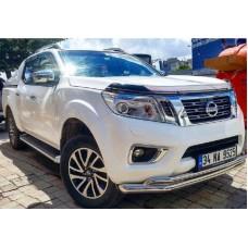Защита переднего бампера Nissan Navara 2019+