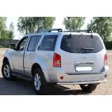 Защита заднего бампера Nissan Pathfinder