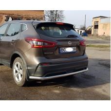 Защита заднего бампера Nissan Qashqai 2018+
