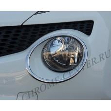 Хром фар Nissan Juke
