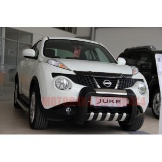 Защита переднего бампера Nissan Juke