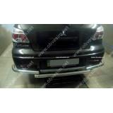 Защита заднего бампера  Mitsubishi Outlander 2003+
