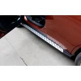 Пороги BMW стиль Mitsubishi Outlander new 2012+