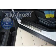 Накладки на пороги Alufrost для Mitsubishi Outlander New
