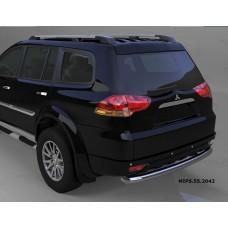Защита заднего бампера Mitsubishi Pajero Sport