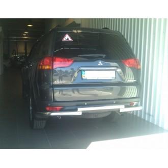 Защита заднего бампера Pajero Sport