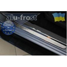 Накладки на пороги Alufrost для Mitsubishi Pajero Sport