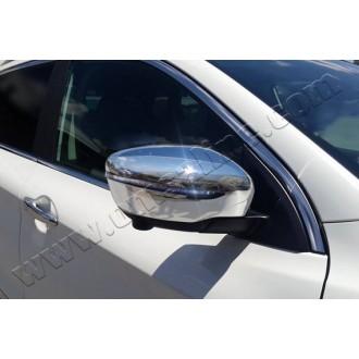 Хром на зеркала Nissan Qashqai II 2014+