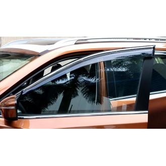 Ветровики с хром полосой Nissan Qashqai 2015-2016+