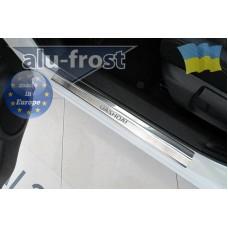Накладки на пороги Alufrost для Nissan Qashqai II 2014+