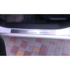 Накладки на пороги Nissan Qashqai II 2014+
