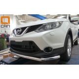 Защита бампера для Nissan Qashqai 2014+