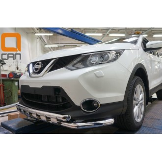 Защита бампера Nissan Qashqai 2014+