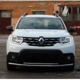 Защита переднего бампера Renault Duster 2018-2019+