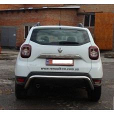 Защита заднего бампера Renault Duster 2018-2019+