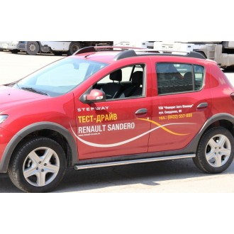 Защита порогов Renault Sandero