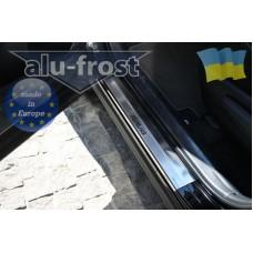 Накладки на пороги Alufrost для Toyota Rav 4 2013+