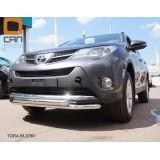 Двойная защита бампера Toyota Rav 4 2013+