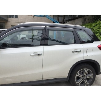 Ветровики с хром полосой Suzuki Vitara 2016-2017+