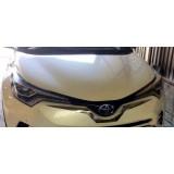 Хром на передний бампер под логотип Toyota C-HR