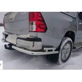 Защита заднего бампера углы Toyota Hilux 2016+
