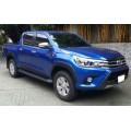 Молдинги на двери Toyota Hilux 2016+