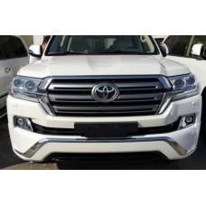 Накладка на передний и задний бампер Toyota LC200 2016+