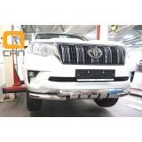 Защита переднего бампера Toyota Prado 150 2018+