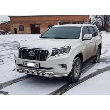 Защита бампера Тойота Прадо 2019+