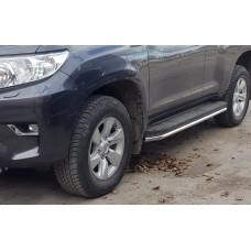 Защита штатных порогов Toyota Prado 150 2017-2018+