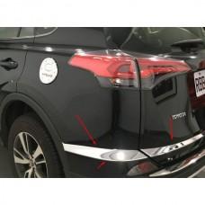 Хром на задний бампер Тойота Рав 4 2017+