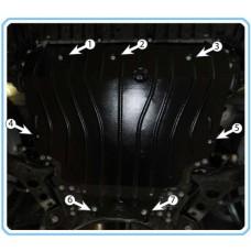 Защита двигателя, моторного отеска Toyota Rav4 2013+