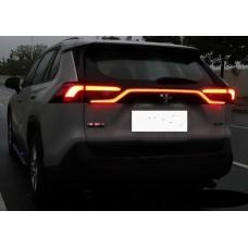 Led полоса между фонарями Тойота Рав 4 2019-2020+