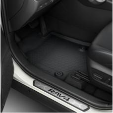 Накладки на пороги оригинальный дизайн Toyota Rav4 2019-2020+