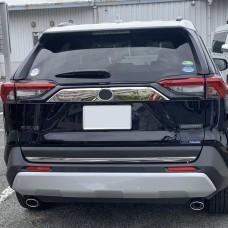 Хром накладка на крышку багажника широкая Тойота Рав 4 2019-2020+