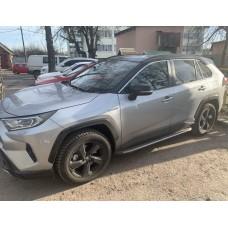 Пороги оригинальный дизайн Toyota Rav4 2019+